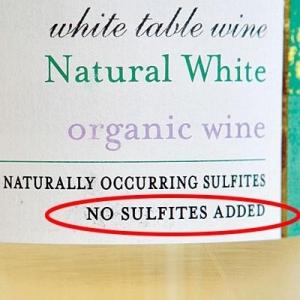 Geen sulfiet toegevoegd in wijn